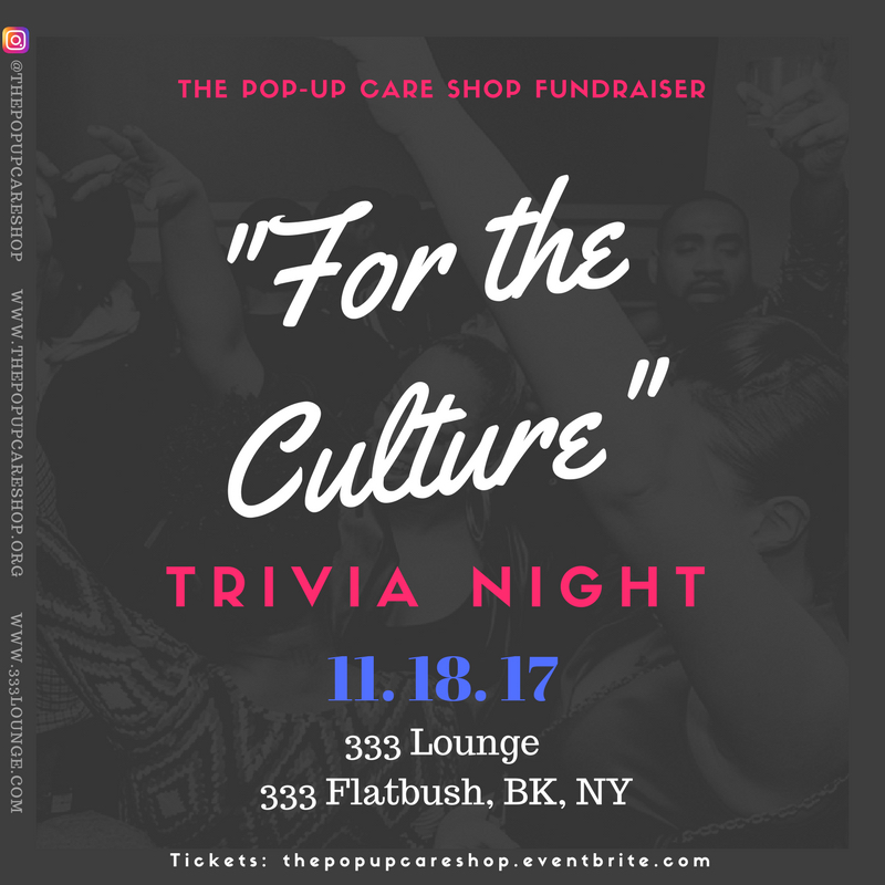 The Pop Up Care Shop Trivia Night Social Media Flyer