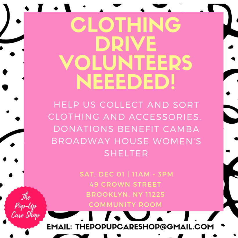CLOTHING DRIVE VOLUNTEER FLYER REDO